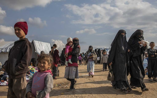 Women and children who fled the Islamic State in the foreigners section at the Kurdish-controlled al-Hol camp in northern Syria, Mar 28, 2019. With ISIS' territory down to zero, countries around the world are grappling with the dilemma of the militant group's human leftovers. The New York Times