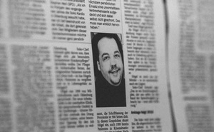 A photo of the the ex-nurse and convicted killer Niels Högel in an old issue of the Nordwest-Zeitung newspaper, in Apr 2019. The New York Times