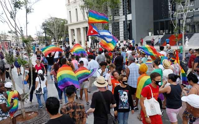 Cuban LGBT activists participate in an annual demonstration against homophobia and transphobia in Havana, Cuba May 11, 2019. REUTERS