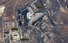 An undated hand-out satellite image provided by Amnesty International shows the military-run Saydnaya Prison, where the Syrian government has executed thousands of prisoners, near Damascus, Syria. The New York Time