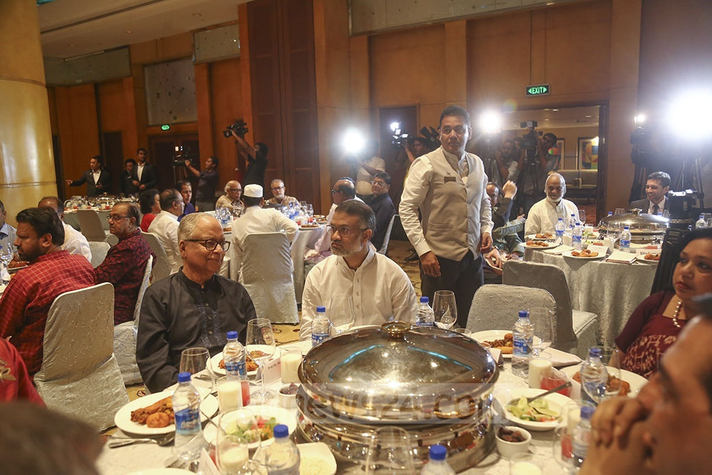 The BNP threw an Iftar event in honour of diplomats and editors at a Dhaka hotel on Tuesday. Photo: Mahmud Zaman Ovi