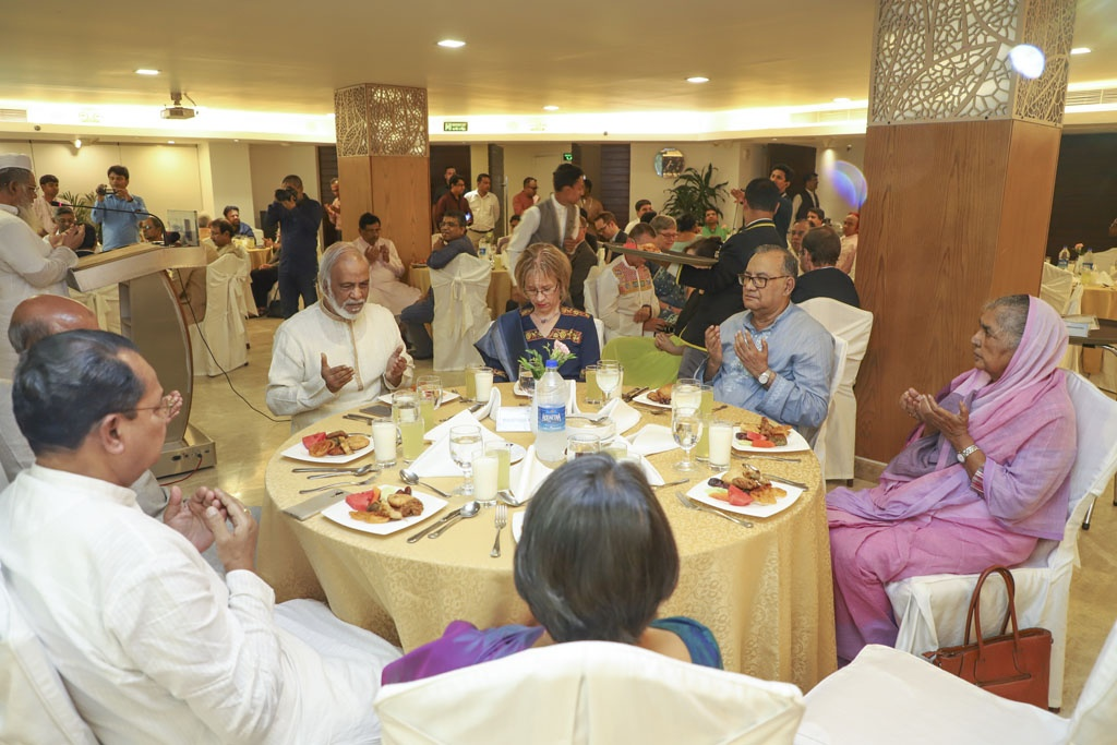 Top leaders of a wide array of political parties andforeign diplomats attending the first public event of the Editors Guild, Bangladesh in Dhaka on Wednesday.