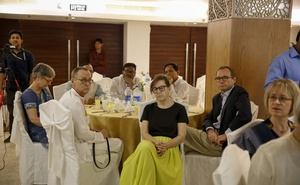 Diplomats of different countries joined the first public event of the Editors Guild, Bangladesh at the Lakeshore Hotel in Dhaka on Wednesday.