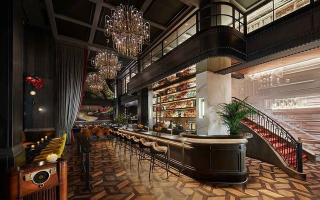 In a photo provided by Virgin Hotels San Francisco, The Commons Club, a dining room and bar on the lobby level of the hotel. The New York Times