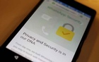 FILE PHOTO: A security message is seen on a Whatsapp screen in this illustration photo April 6, 2016. REUTERS