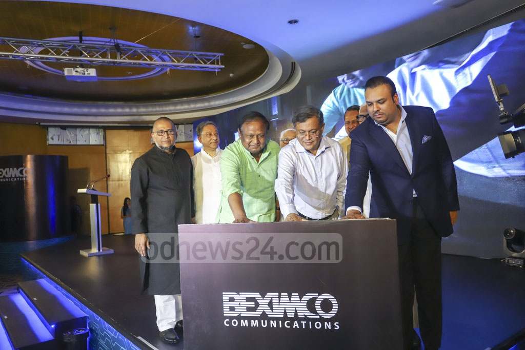 As an alternative to conventional cable TV connections, Beximco Communication Limited has launched a Direct-to-Home (DTH) service which will use signals transmitted from the Bangabandhu Satellite to provide better picture quality to customers. The service called 'Akash' was inaugurated at the capital's Westin Hotel on Thursday. Photo: Asif Mahmud Ove