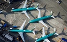 An aerial photo shows Boeing 737 MAX airplanes parked on the tarmac at the Boeing Factory in Renton, Washington, US March 21, 2019. REUTERS