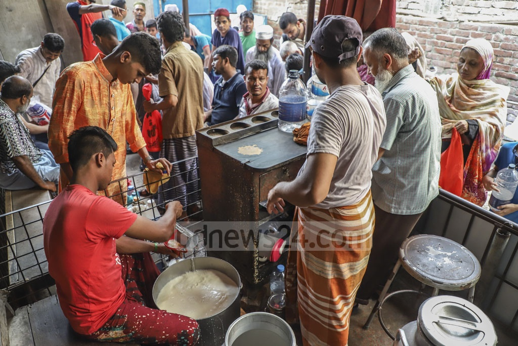 The Ananda Dairy Farm in Old Dhaka sells cow milk at Tk 80 per litre. Photo: Abdullah Al Momin
