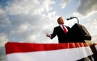 US President Donald Trump addresses a Trump 2020 re-election campaign rally in Montoursville, Pennsylvania, US May 20, 2019. Reuters