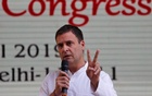 FILE PHOTO: Rahul Gandhi, President of India's main opposition Congress party, speaks after releasing his party's election manifesto for the April/May general election in New Delhi, India, April 2, 2019. REUTERS