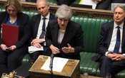 Britain's Prime Minister Theresa May speaks at the House of Commons in London. REUTERS