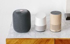 From left, the Apple Homepod, Google Home and Amazon Alexa, Feb. 5, 2019. The New York Times.