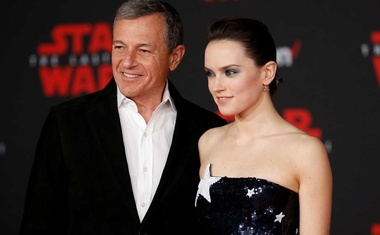"File Photo: World Premiere of ""Star Wars: The Last Jedi"" – Arrivals – Los Angeles, California, US, 09/12/2017 – Chairman and CEO of The Walt Disney Company Bob Iger and actress Daisy Ridley. REUTERS"