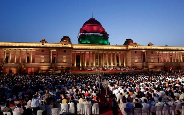A general view of swearing-in ceremony of India's Prime Minister Narendra Modi at the presidential palace in New Delhi, India May 30, 2019. Reuters