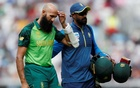 South Africa's Amla sits out nets after blow to head