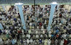 Muslims offer prayers at the Baitul Mukarram National Mosque in Dhaka on Shab-e-Qadr or Lailatul Qadr on Saturday night.
