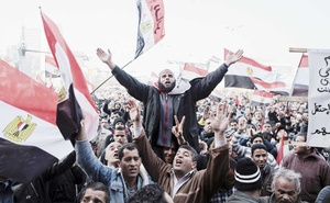 Demonstrators gather in Tahrir Square on the first anniversary of the protests that led to the ouster of Hosni Mubarak, the former president, in Cairo, Jan 25, 2012. Former President Barack Obama's sympathy for the Arab Spring and negotiations with Iran brought blistering criticism from Prince Mohammed bin Zayed. The New York Times