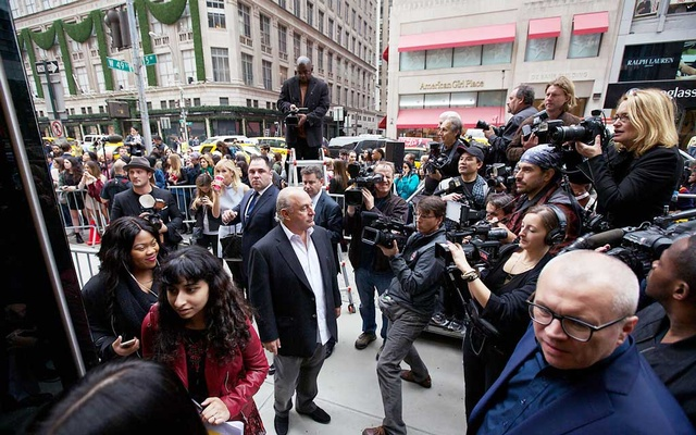 Sir Philip Green during the opening of a new Topshop/Topman store in New York, Nov 5, 2014. The New York Times