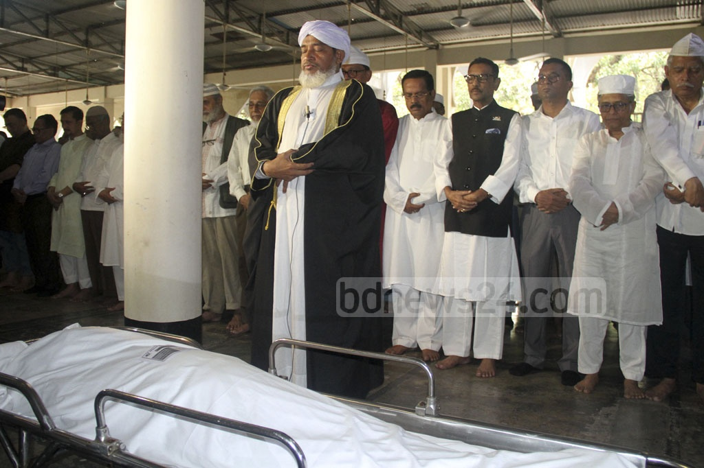 Another Namaz-e-Janaza of prominent playwright, director and actor Momtazuddin Ahmed was held at the Dhaka University's central mosque on Monday.