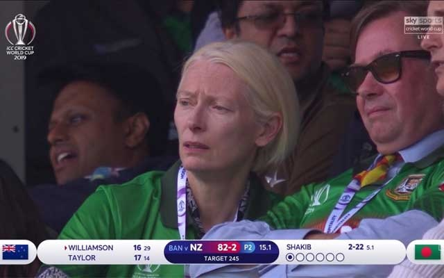 Tilda Swinton Seen In Bangladesh Colours At The Oval