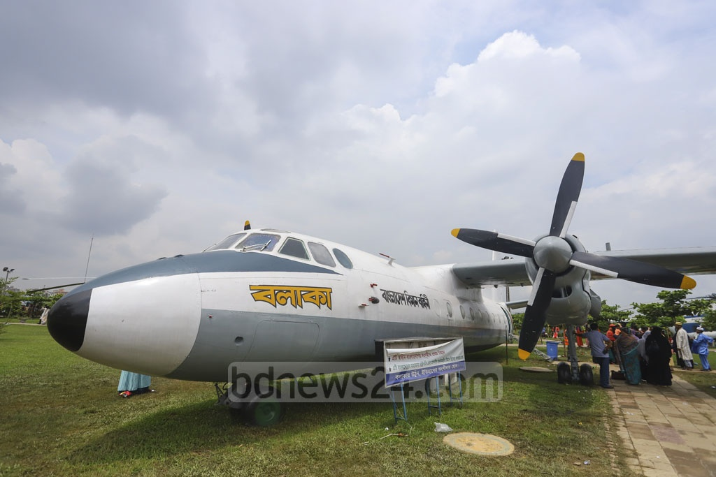 Different types of aircraft are on display at the BAF Museum in Dhaka's Agargaon. This photo was taken on Friday when visitors overcrowded the museum after Eid-ul-Fitr. Photo: Asif Mahmud Ove
