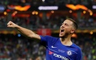 FILE PHOTO: Europa League Final - Chelsea v Arsenal - Baku Olympic Stadium, Baku, Azerbaijan - May 29, 2019 Chelsea's Eden Hazard celebrates scoring their fourth goal. Reuters