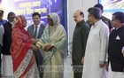 Prime Minister Sheikh Hasina returned to Dhaka after an 11-day tri-nation of Japan, Saudi Arabia and Finland on Saturday. She was received at the airport by her cabinet colleagues and Awami League leaders. Photo: PID