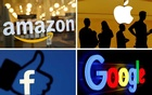 The logos of Amazon, Apple, Facebook and Google in a combination photo. Reuters