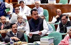 AHM Mustafa Kamal presenting his maiden budget as finance minister in parliament on Thursday. Photo: PID