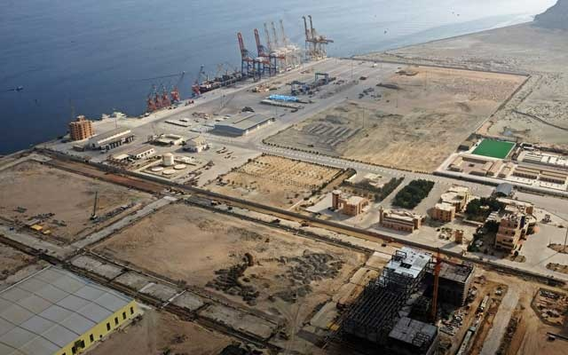 FILE PHOTO: A general view of Gwadar port in Gwadar, Pakistan October 4, 2017. Picture taken October 4, 2017. Reuters