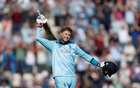 ICC Cricket World Cup - England v West Indies - The Ageas Bowl, Southampton, Britain - June 14, 2019 England's Joe Root celebrates a century Action Images via Reuters