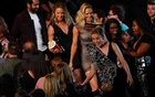 2019 MTV Movie and TV Awards - Santa Monica, California, US, Jun 15, 2019. Captain Marvel actress Brie Larson accepts Best Fight award with her fellow stunt doubles. REUTERS