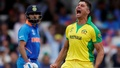 FILE PHOTO: Cricket - ICC Cricket World Cup - India v Australia - The Oval, London, Britain - Jun 9, 2019 Australia's Marcus Stoinis celebrates taking the wicket of India's MS Dhoni. Reuters