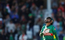Cricket - ICC Cricket World Cup - Australia v Bangladesh - Trent Bridge, Nottingham, Britain - June 20, 2019 Bangladesh's Mushfiqur Rahim celebrates a century Action Images via Reuters