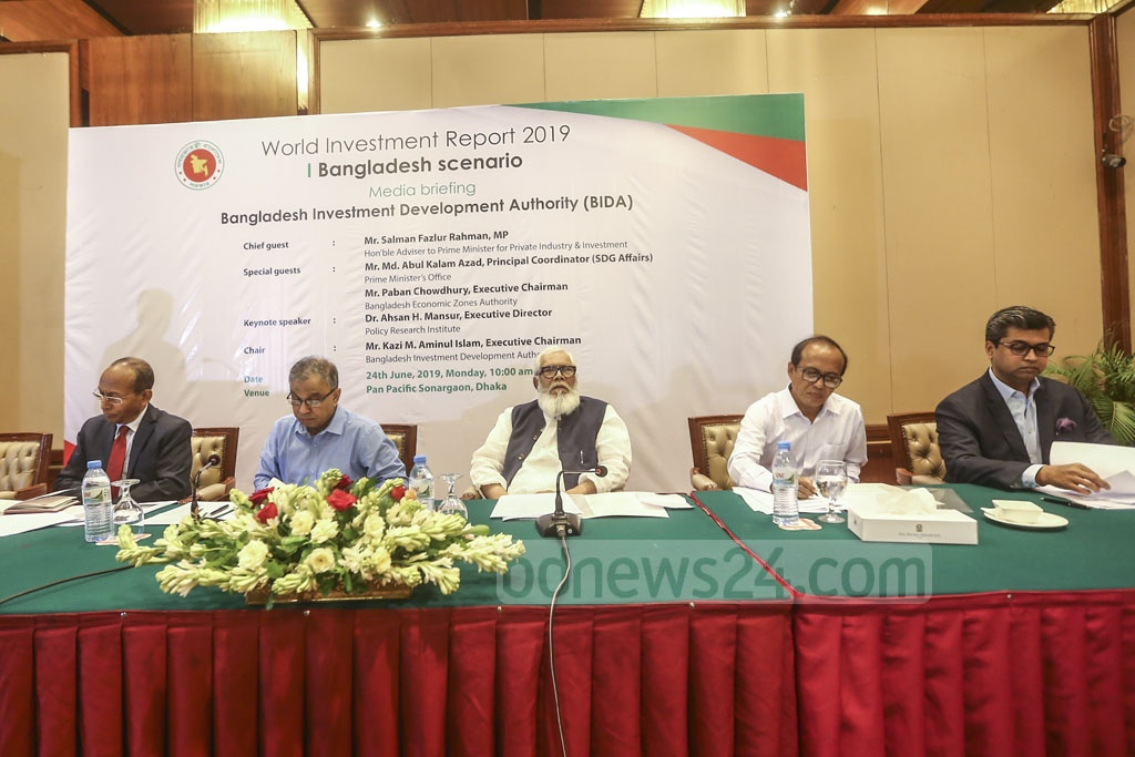 Guests attend an event organised by the Bangladesh Investment Development Authority in a Dhaka hotel on Monday. Photo: Mahmud Zaman Ovi