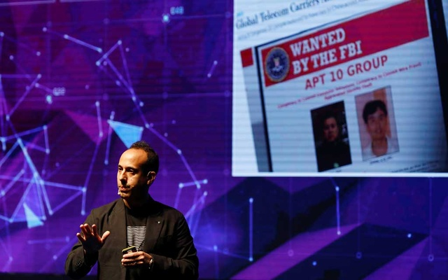 Lior Div, chief executive of US-Israeli cyber security firm Cybereason, speaks during Cyber Week conference in Tel Aviv, Israel June 25, 2019. Reuters