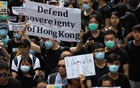 Hong Kong activists march to major international consulates in an attempt to rally foreign governments' support for their fight against a controversial extradition bill, in Hong Kong, China Jun 26, 2019. REUTERS