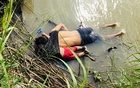 The bodies of Salvadoran migrant Oscar Alberto Martinez Ramirez and his daughter Valeria are seen after they drowned in the Rio Bravo river while trying to reach the United States, in Matamoros, in Tamaulipas state, Mexico June 24, 2019. REUTERS