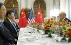 President Donald Trump participates in a bilateral dinner meeting with Chinese President Xi Jinping during the G20 Summit, inside the Hyatt Palace Hotel in Buenos Aires, Argentina, Dec 1, 2018. Under Trump, national security concerns over China's rise have bled into trade and economic policy, and some officials see a long ideological struggle unfolding. The New York Times