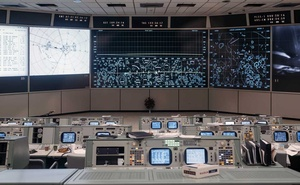 The newly-renovated mission control centre at NASA's Johnson Space Center in Webster, Texas, June 28, 2019. The New York Times