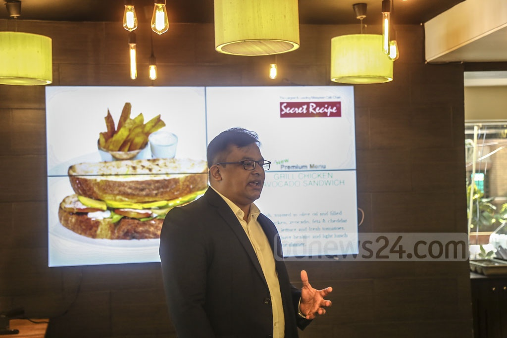 Malaysian café chain Secret Recipe launches nine premium dishes at its flagship outlet in Dhaka's Gulshan-2 area. Fair Group Ltd has been operating the Malaysian franchise in Bangladesh since 2018. Photo: Mahmud Zaman Ovi