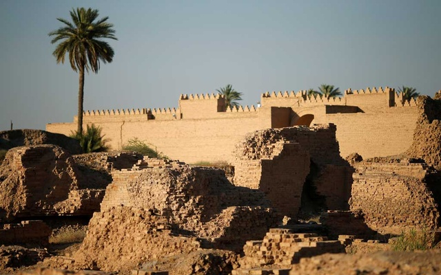 General view of the ancient city of Babylon near Hilla, Iraq Jul 5, 2019. REUTERS