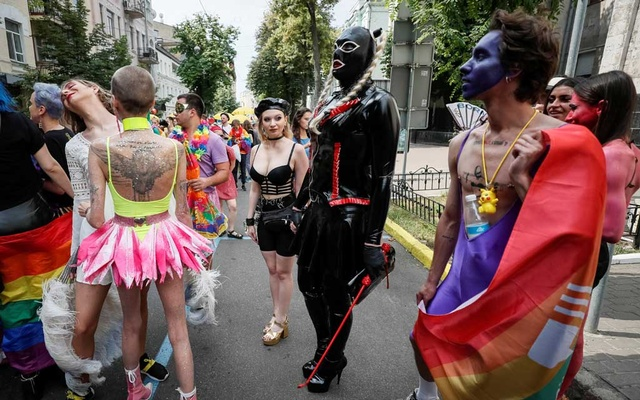 File Photo: Participants attend the Equality March, organised by the LGBT community in Kiev, Ukraine Jun 23, 2019. REUTERS