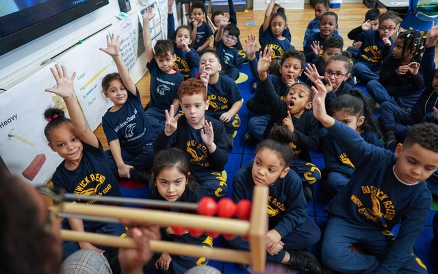 Students at Bushwick Ascend Charter School in Brooklyn, on Feb 27, 2019. Ascend, the charter school network in Brooklyn, scrapped its strict discipline code a few years ago. The leaders of charter schools across New York are broadcasting problems in their schools and making changes. The New York Times