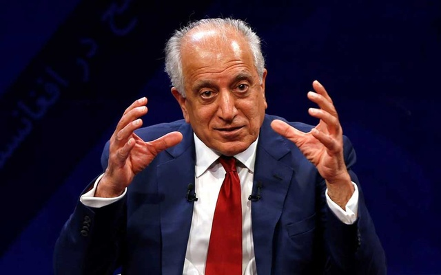 US envoy for peace in Afghanistan Zalmay Khalilzad speaks during a debate at Tolo TV channel in Kabul, Afghanistan Apr 28, 2019. REUTERS/Omar Sobhani