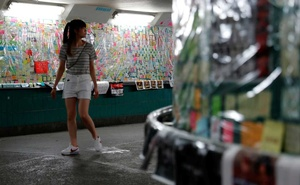 Notes against the proposed extradition bill are seen Tai Po, in the northern part of the New Territories of Hong Kong, China Jul 9, 2019. REUTERS