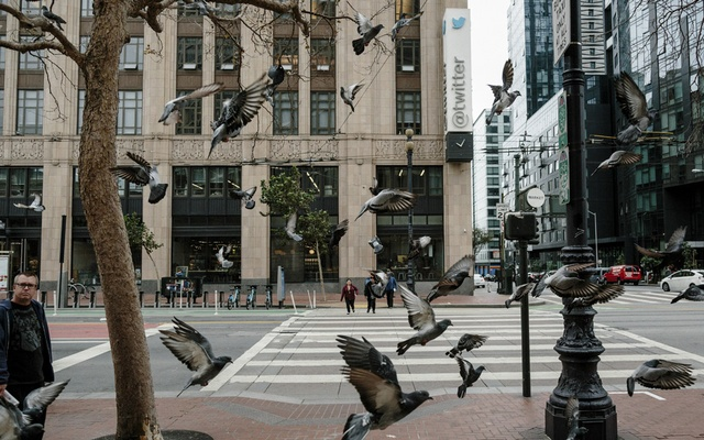 The headquarters of Twitter in San Francisco, Oct 27, 2016