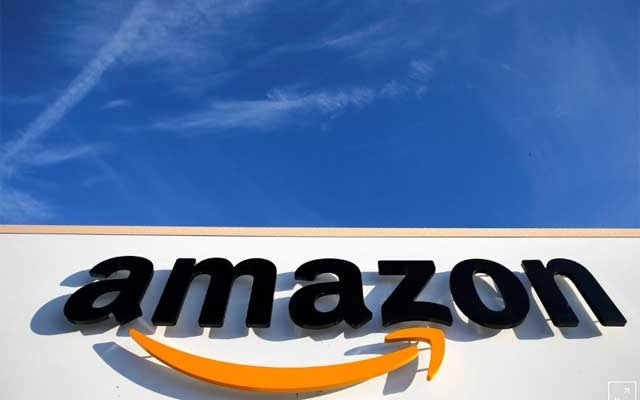 The logo of Amazon is seen at the company logistics centre in Boves, France, Jan 19, 2019. REUTERS