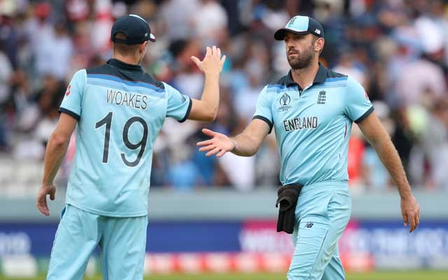 ICC Cricket World Cup Final - New Zealand v England - Lord's, London, Britain - July 14, 2019 England's Chris Woakes shakes hands with Liam Plunkett after England's innings Action Images via Reuters
