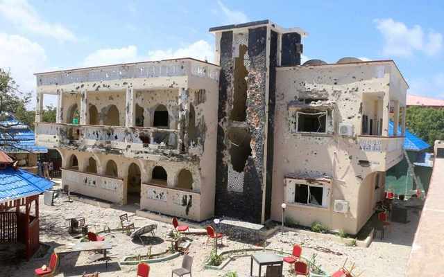 File Photo: The Asasey Hotel in Somalia after the attack. The New York Times